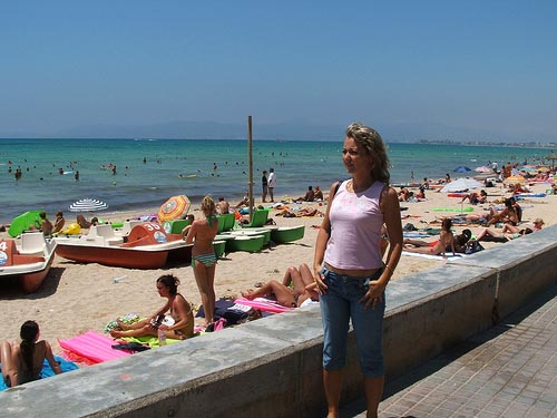 Live el molinar promenade people watching cam palma island of majorca spain