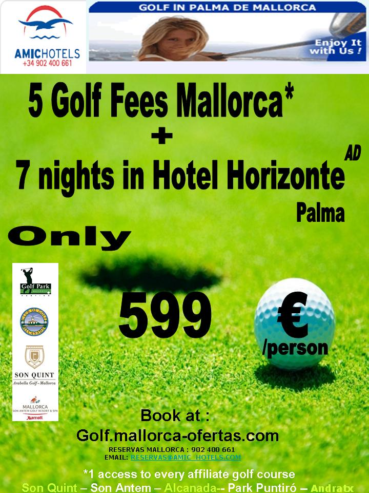 Book Your 5 Golf Fees x 7 Nights in Mallorca. The Best Golf Courses in Mallorca